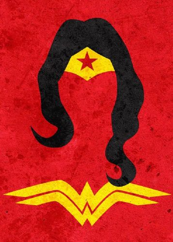 WONDER WOMAN - MINIMAL ART 2 canvas print - self adhesive poster - photo print